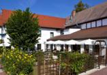 Hotel Lindenhof in Bad Lauchstädt, Terrasse