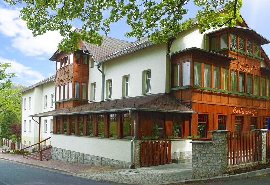 Hotel Swieradow in Bad Flinsberg in Niederschlesien Außenansicht