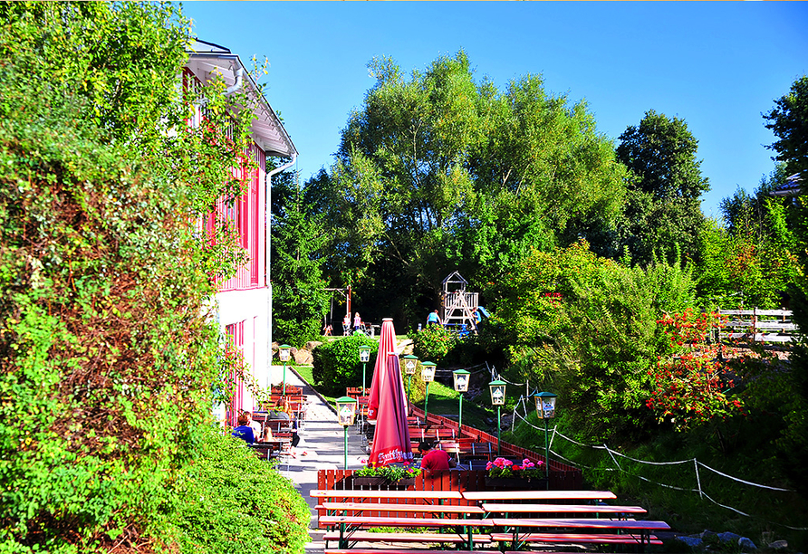 Reiterhof Runding, Terrasse