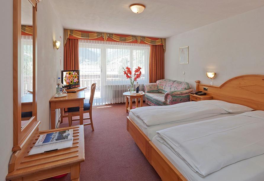 Hotel Walliserhof in Täsch, Beispiel Doppelzimmer