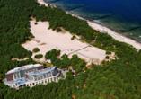 HAVET Hotel Resort & Spa, Dwirzyno, Kolberger Deep, Polnische Ostsee, Luftaufnahme