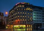 Grand Hotel Cravat in Luxemburg, Hotelansicht bei Nacht