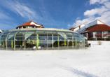 Quellness- und Golfhotel Fürstenhof in Bad Griesbach im Bayerischen Bäderdreieck, Winteransicht
