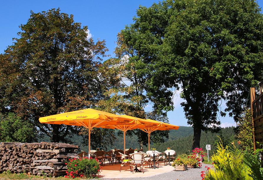 Flair- & Berghotel Talblick in Holzhau, Terrasse