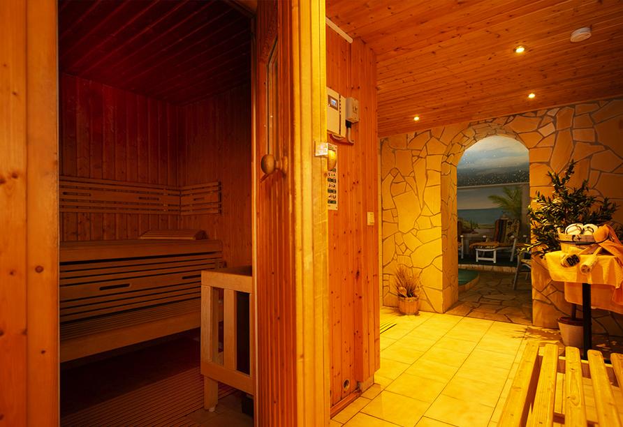 Flair- & Berghotel Talblick in Holzhau, Sauna und Ruhebereich