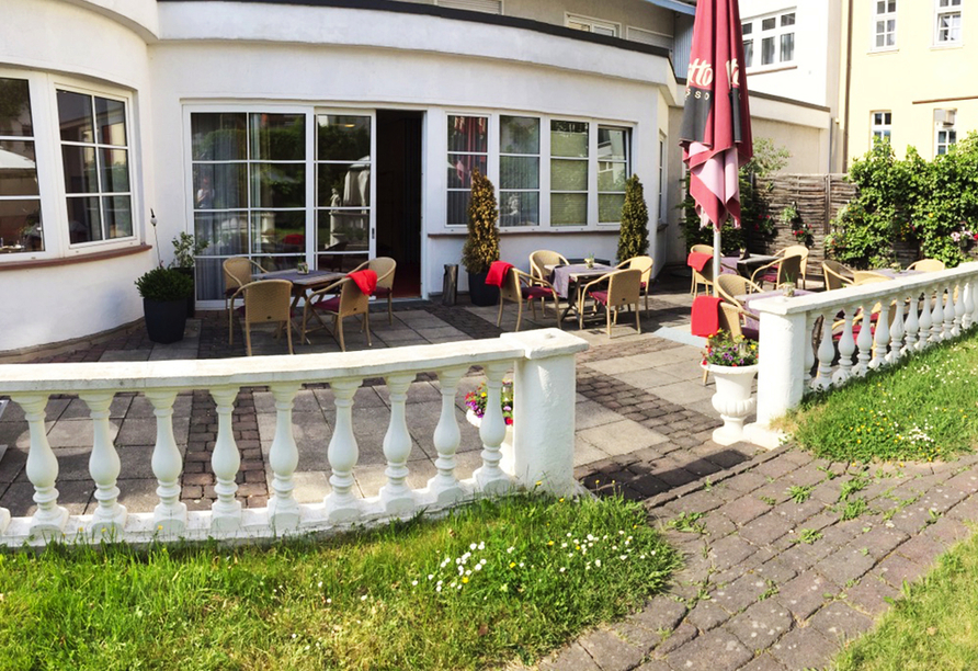 Altstadthotel Arte in Fulda, Terrasse