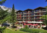 Hotel Kristall-Saphir in Saas-Almagell, Außenansicht