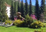 Hotel Kristall-Saphir in Saas-Almagell, Garten