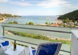 Hotel Mimosa in Rabac, Ausblick Balkon