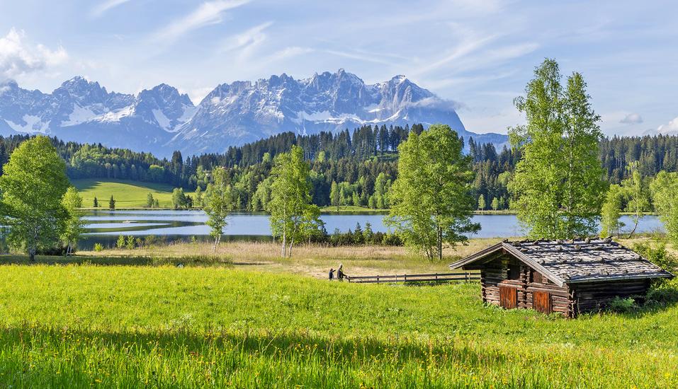 Hotel Sonnalp, Kirchberg, Tirol, Österreich, Panorama des Wilden Kaisers