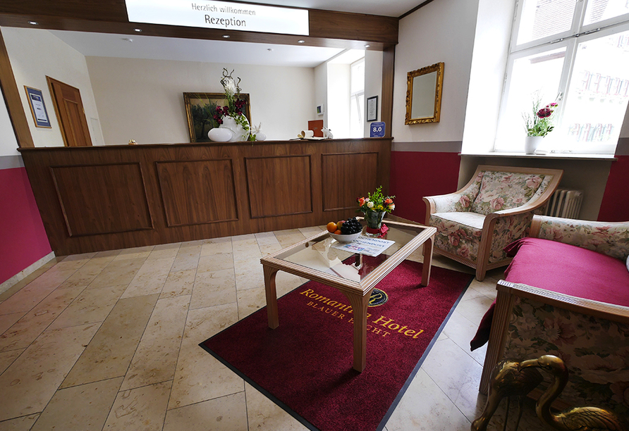 Romantica Hotel Blauer Hecht in Dinkelsbühl, Rezeption