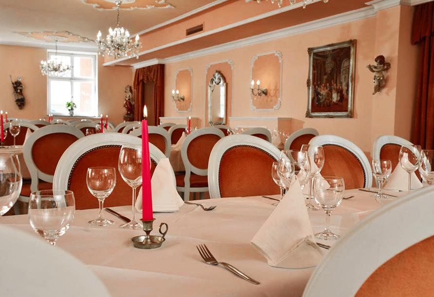 Romantica Hotel Blauer Hecht in Dinkelsbühl, Restaurant