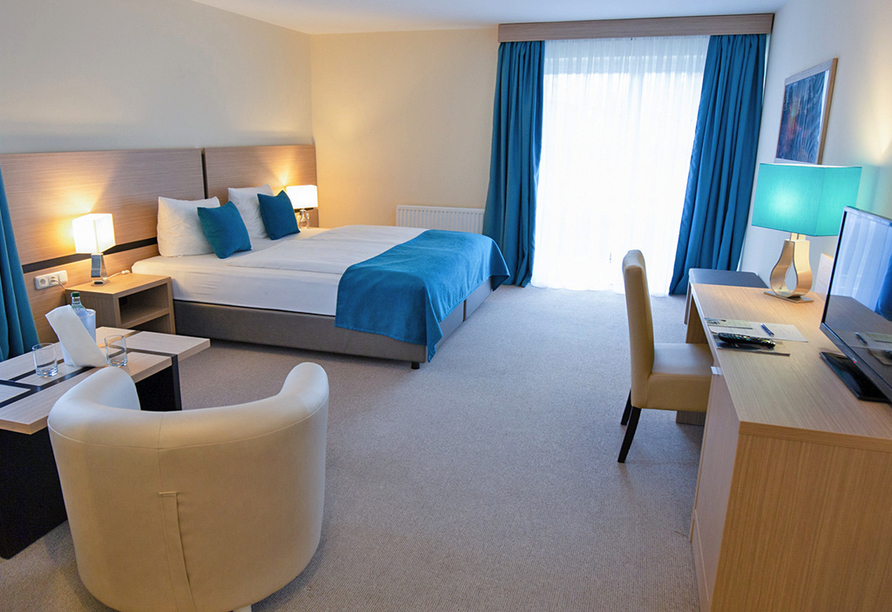 Heide Hotel Reinstorf Lüneburger Heide, Beispiel renoviertes Zimmer Komfort