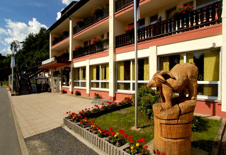 Hotel am Schlossberg in Ziegenrück an der Saale, Außenansicht