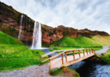 Der Seljalandsfoss ist ein Wasserfall im Süden Islands.