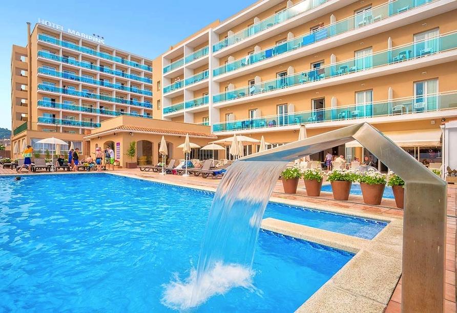 Hotel Alegria Maripins in Malgrat de Mar, Außenansicht