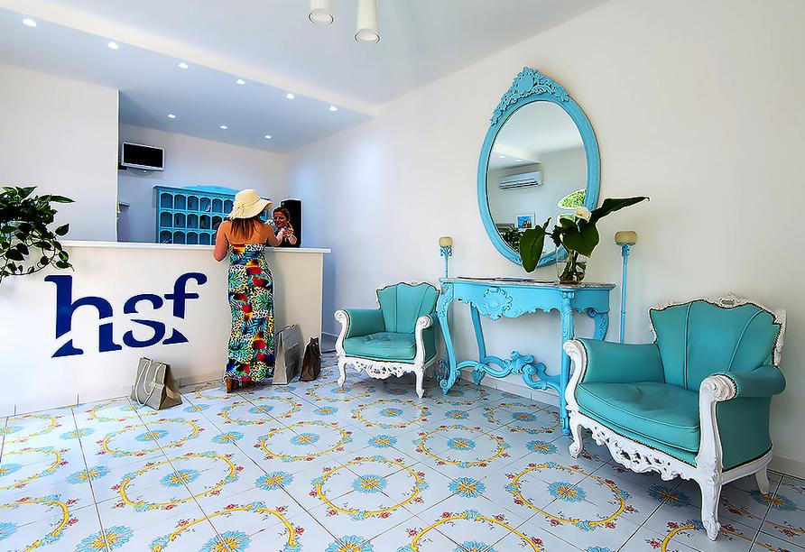 Hotel Francesco in Forio d'Ischia, Empfangsbereich