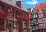 Waldhotel Altenbrak in Thale, Fachwerkhäuser in Quedlinburg