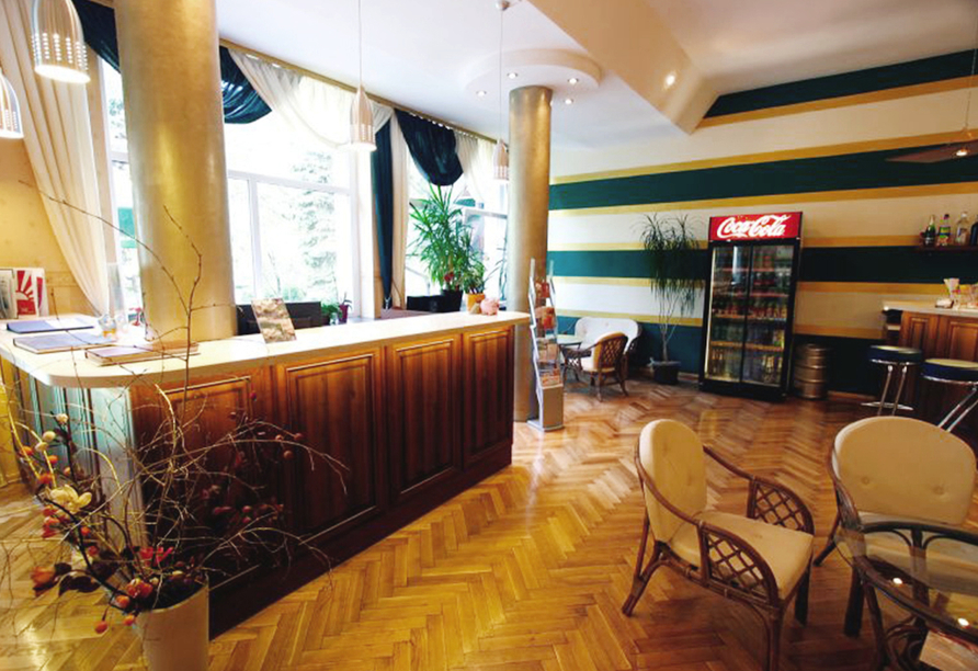 Hotel Kurhaus Kaja in Bad Flinsberg in Niederschlesien Empfang