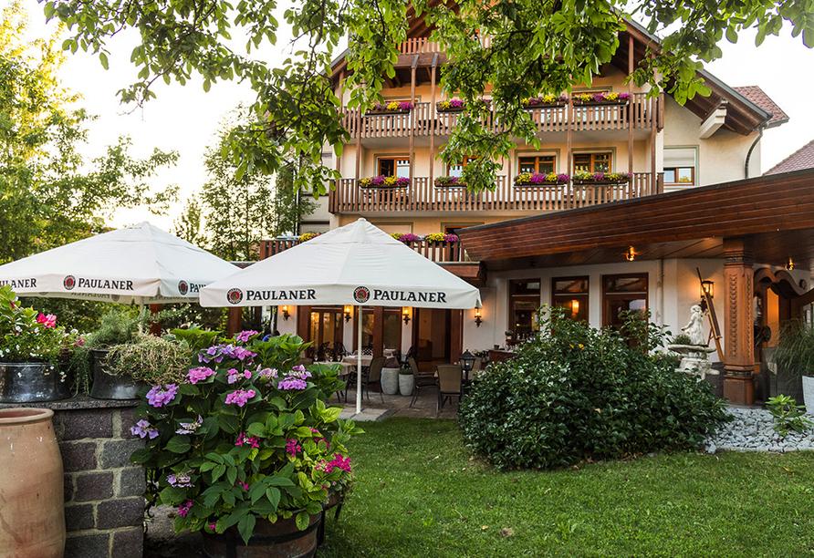 Hotel Becher in Donzdorf auf der Schwäbischen Alb, Garten