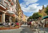 Hotel Salvator in Karlsbad, Terrasse