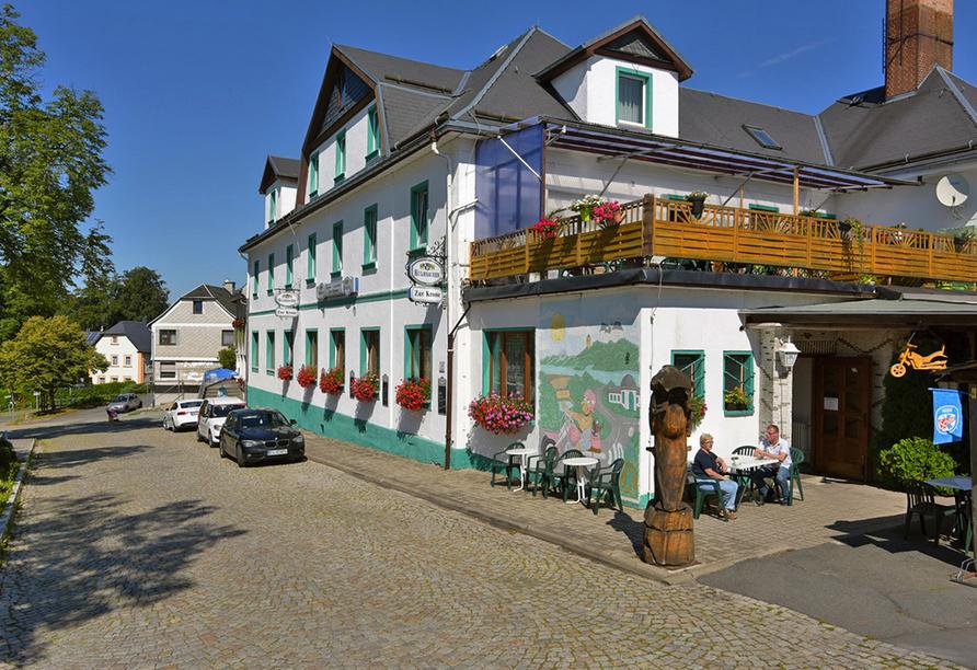 Hotel Zur Krone, Ebersdorf, Thüringen, Außenansicht