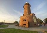 Kurhotel Etna in Kolberg Ostsee Polen, Leuchtturm