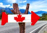 West-Kanada-Reise, Wegweise Kanada