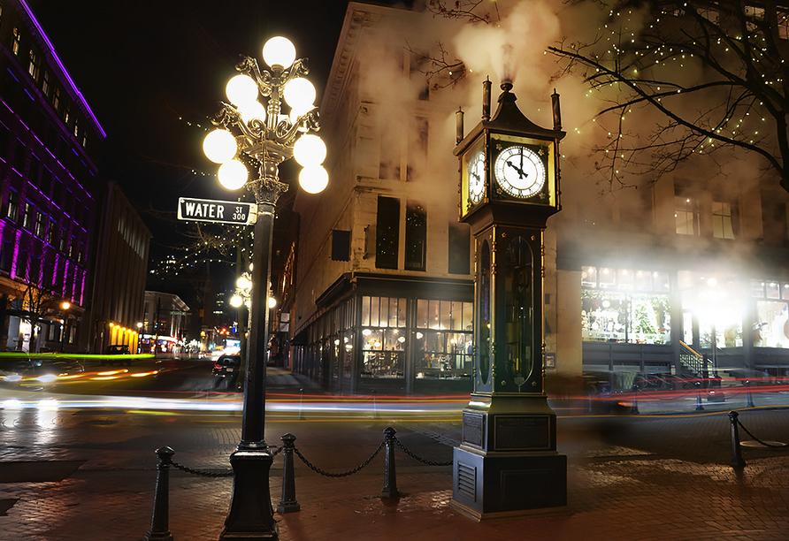 West-Kanada-Reise, Steam Clock in Gastown