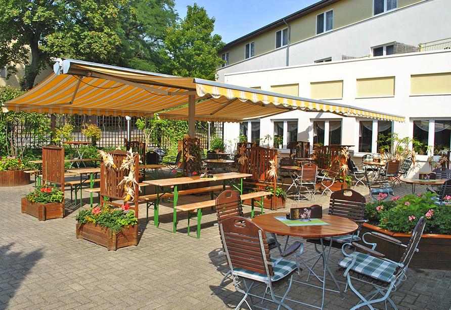 Heidehotel Lubast, Terrasse
