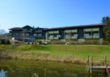 Landhotel Christopherhof in Grafenwiesen, Naturteich