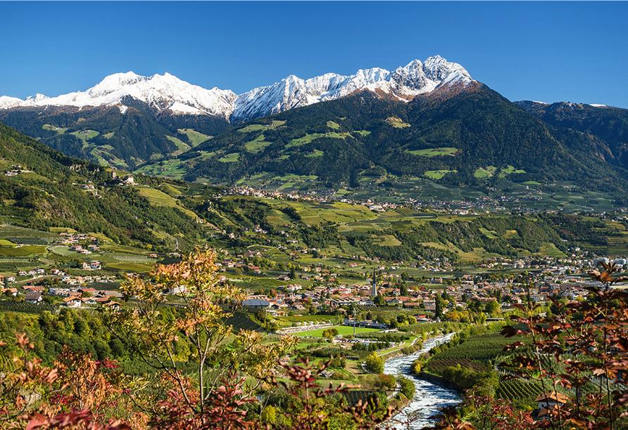 Etsch-Radweg, Südtiroler Landschaft