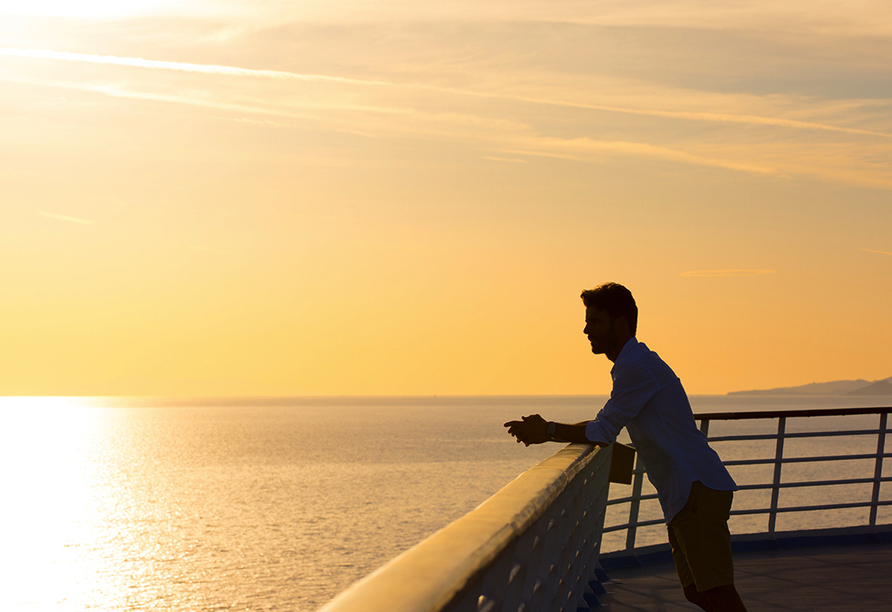 Celestyal Olympia, Sonnenuntergang an Bord