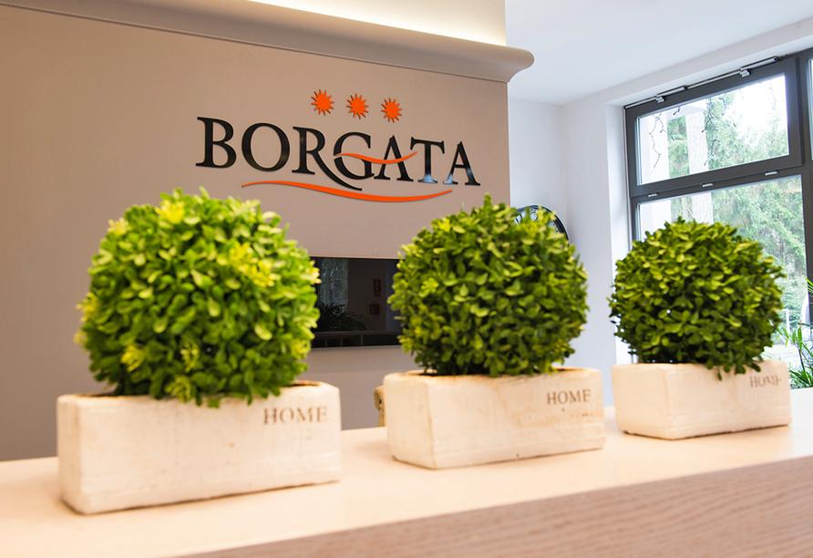 Hotel Borgata in Henkenhagen an der polnischen Ostsee, Rezeption