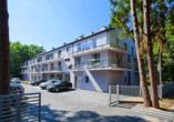 Hotel Borgata in Henkenhagen an der polnischen Ostsee, Außenansicht