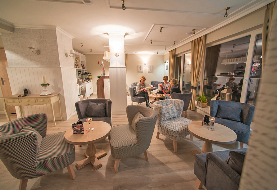 Hotel Borgata in Henkenhagen an der polnischen Ostsee, Café