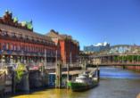 Speicherstadt von Hamburg in Deutschland.