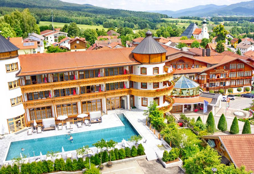 Wellness & Sporthotel Bayerischer Hof in Rimbach, Außenansicht