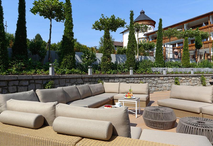 Wellness & Sporthotel Bayerischer Hof in Rimbach, Terrasse