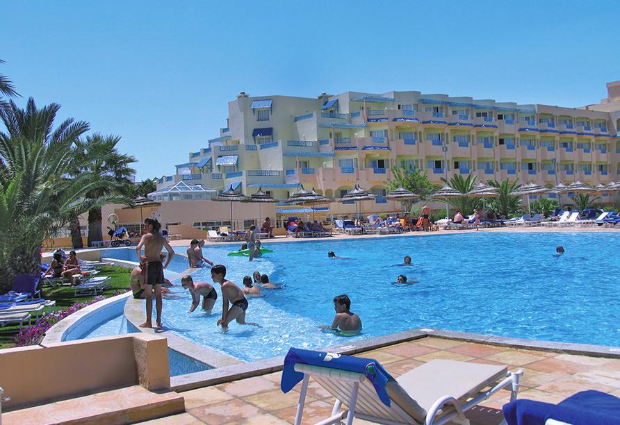 Hotel LTI Bellevue Park Sousse, Außenpool und Hotel