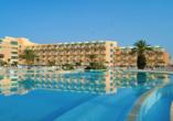 Hotel LTI Bellevue Park Sousse, Pool mit Blick aufs Hotel