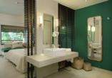 Hotel Coin de Mire Attitude in Bain Boeuf, Beispiel Badezimmer Doppelzimmer Deluxe