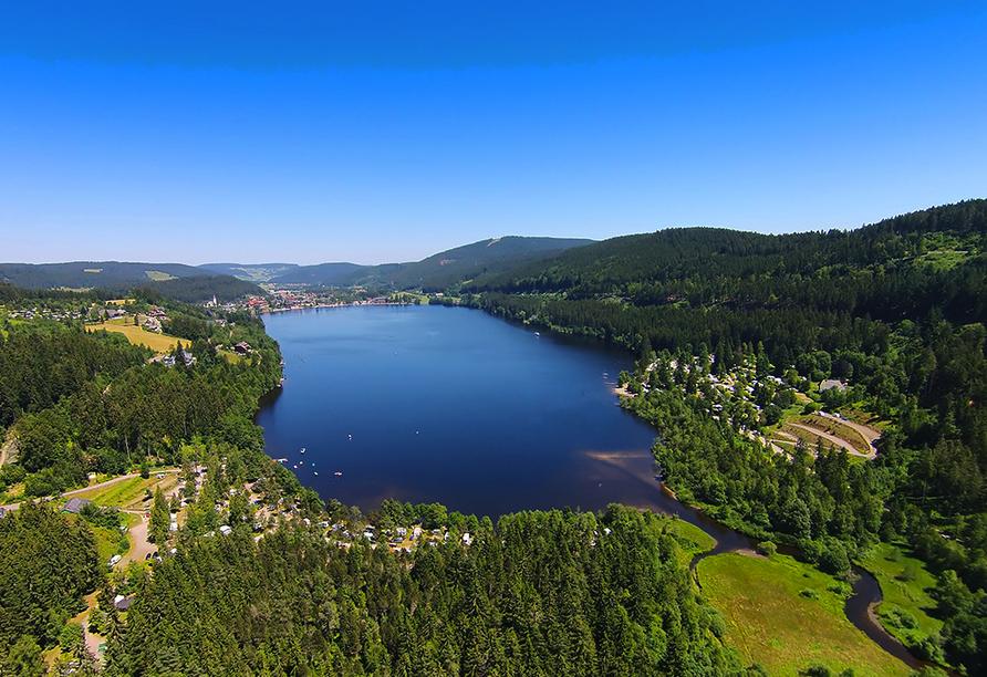 Rundreise Bodensee, Titisee, Elsass, Luftansicht vom Titisee