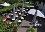 Hotel Teutschhaus in Kurtinig, Terrasse
