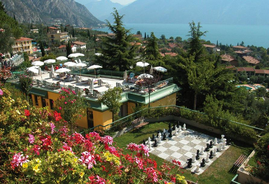 Parc Hotel Cristina in Limone sul Garda, Terrasse
