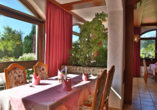 Hotel Hintermoos, Maria Alm, Restaurant mit Ausblick