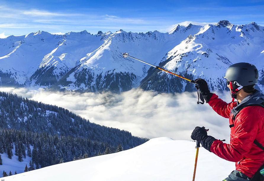 Hotel Meierhof Davos, Schweiz, Skifahrer