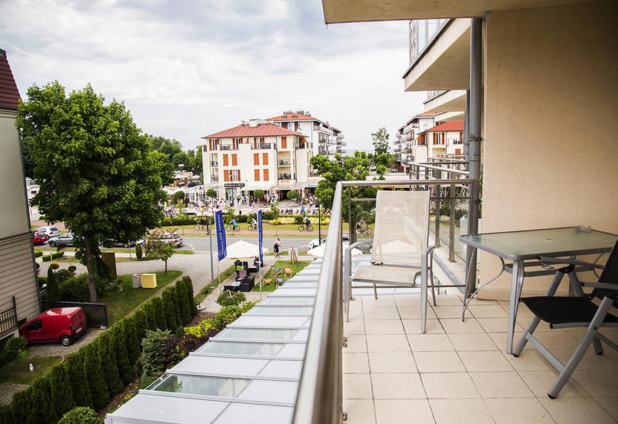 Avangard Resort in Swinemünde, Balkon