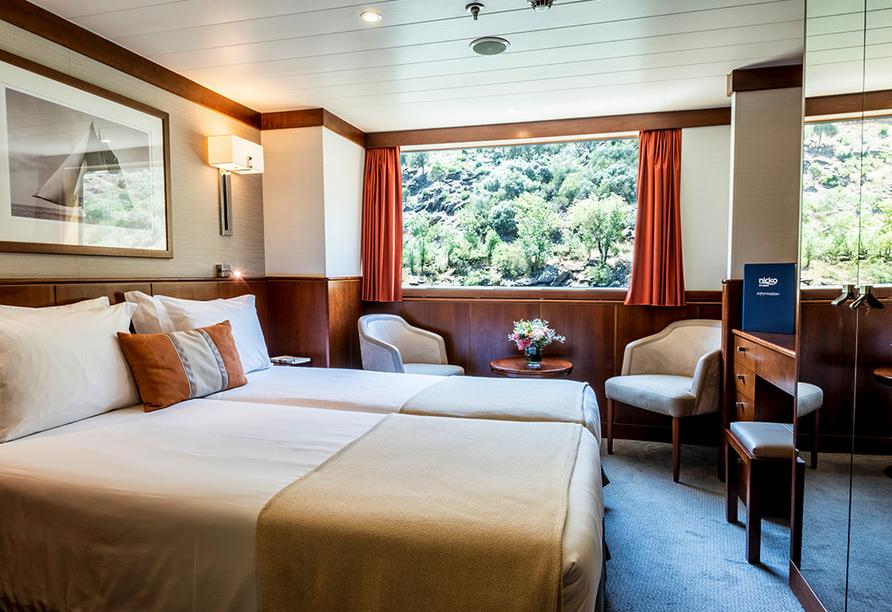 MS Douro Cruiser, Kabinenbeispiel Hauptdeck