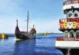 Diune Resort Kolberg, Schiffe im Hafen von Kolberg